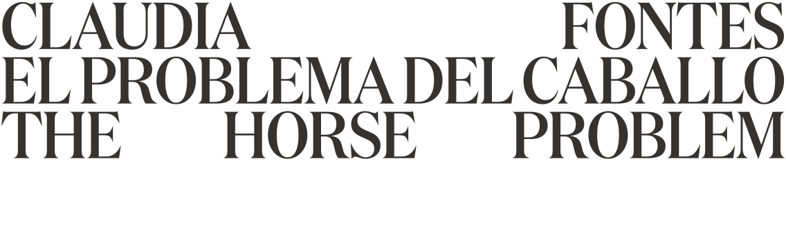 Claudia Fontes. El Problema del Caballo. The Horse Problem